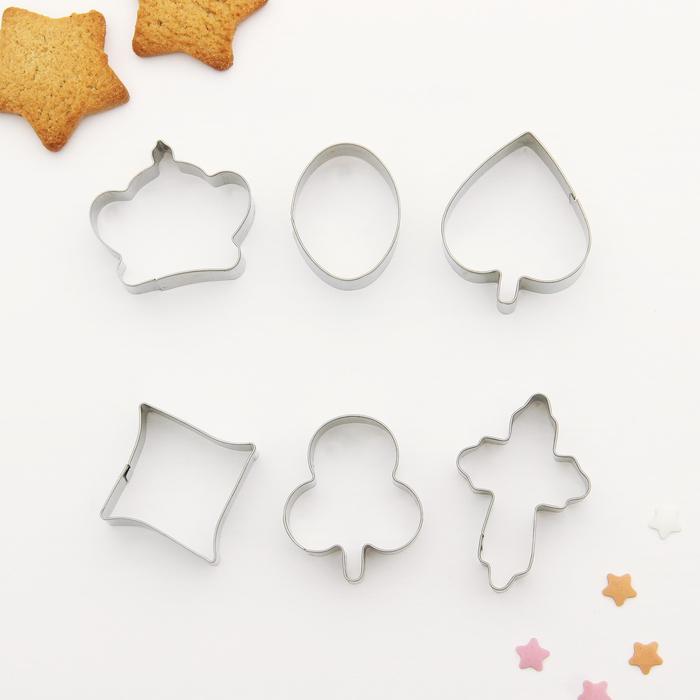 """Набор форм для вырезания печенья """"Фигурки"""", 6 шт - фото 308034400"""