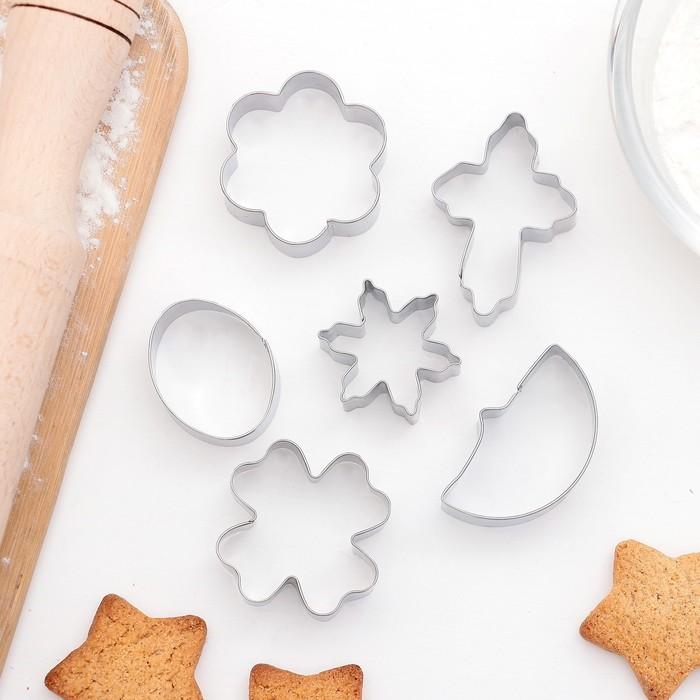 """Набор форм для вырезания печенья """"Ночь"""", 6 шт - фото 308034403"""