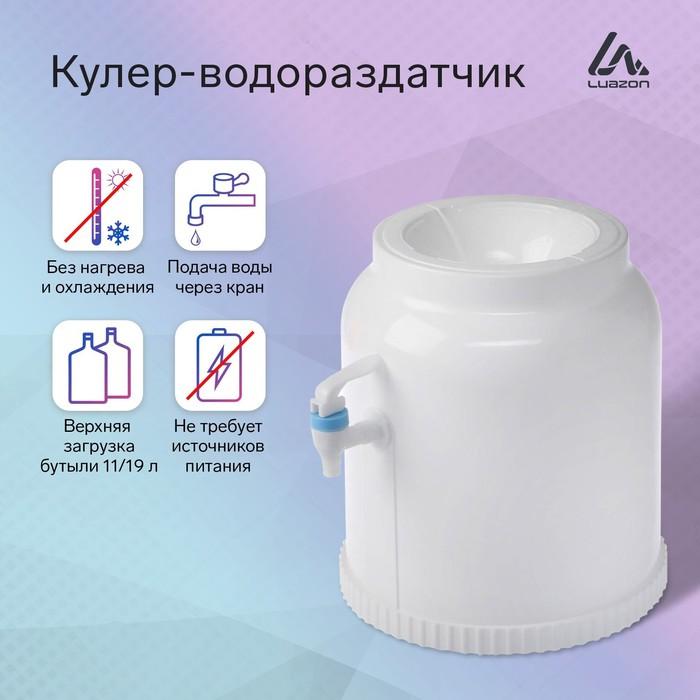 Кулер-водораздатчик для воды, бутылка 20л, без подогрева и охлаждения