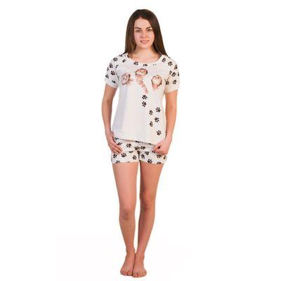Комплект женский (футболка, шорты) ТК-291 цвет бежевый, р-р 50