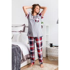 Комплект женский (футболка, брюки) ТК-283 МИКС, р-р 48