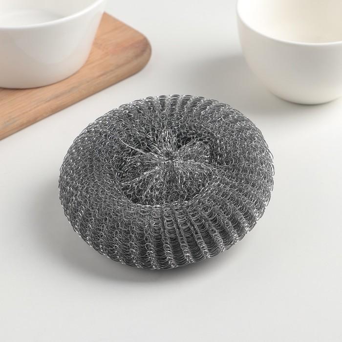 Мочалка для посуды 40 г. (металл.)  (1 шт.)