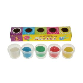 Пластилин на растительной основе набор 5 цветов*90г Аметист ТЕСТО (450г) Тдл-5-90