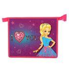 """Папка для тетрадей А5, молния сверху, ламинированный картон, конгрев """"Влюблённая принцесса"""""""