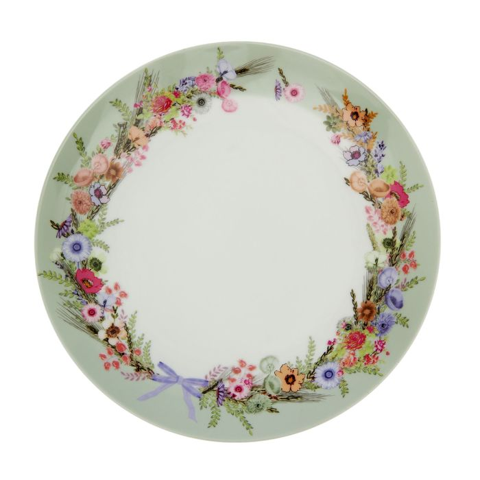 Тарелка обеденная 25 см Crown Of Flowers