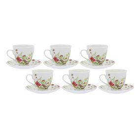 Набор чайный на 6 персон Meadow, 12 предметов: 6 чашек 250 мл, 6 блюдец
