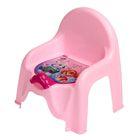 Горшок-стульчик «Щенячий патруль» с крышкой, для девочки, цвет розовый