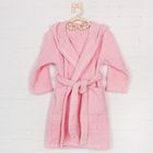 Халат с капюшоном для девочки, рост 110 см, цвет розовый 826-04-30/110