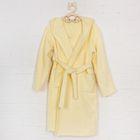 Халат с капюшоном для девочки, рост 110 см, цвет жёлтый 826-04-30/110