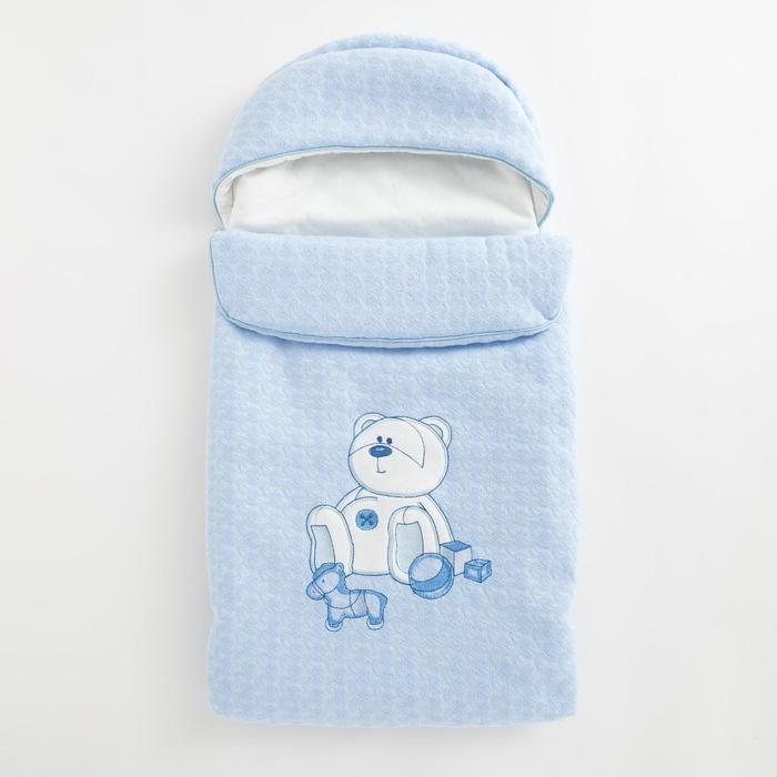 Конверт на молнии «Мишка с игрушками», цвет голубой - фото 735212