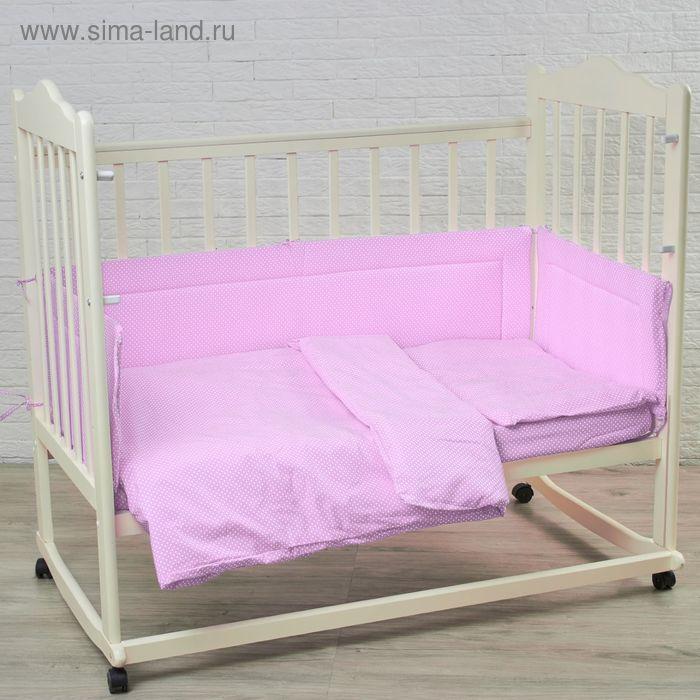 """Комплект в кроватку """"Карамельки"""" (6 предметов), цвет сиреневый 10603"""