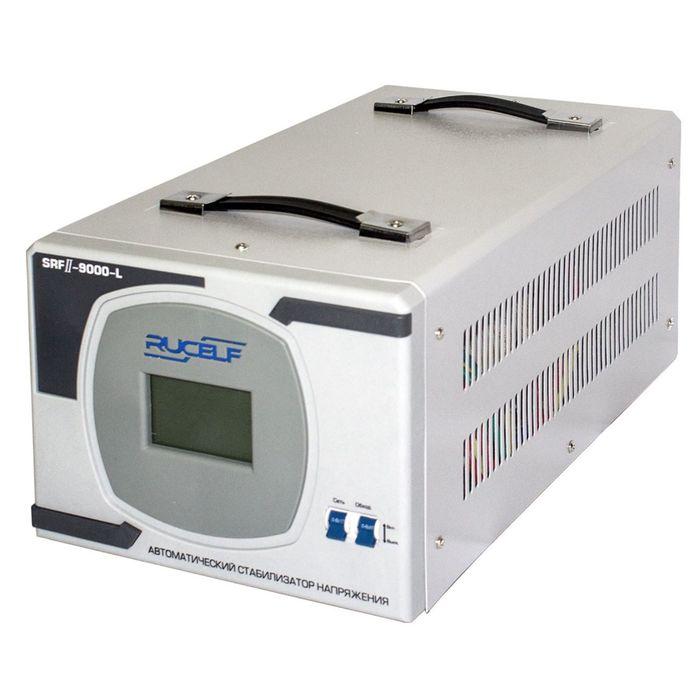 Стабилизатор напряжения RUCELF SRF.II-9000-L, релейный, напольный, точн. ±8%, 9000 ВА