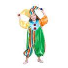 """Карнавальный костюм """"Клоун Фантик"""", комбинезон, шапка, р-р 30, рост 104 см"""