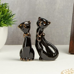 "Souvenir ""Black cat"", under porcelain"
