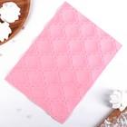 """Коврик рельефный 25х19 см """"Ролле"""", цвет розовый"""