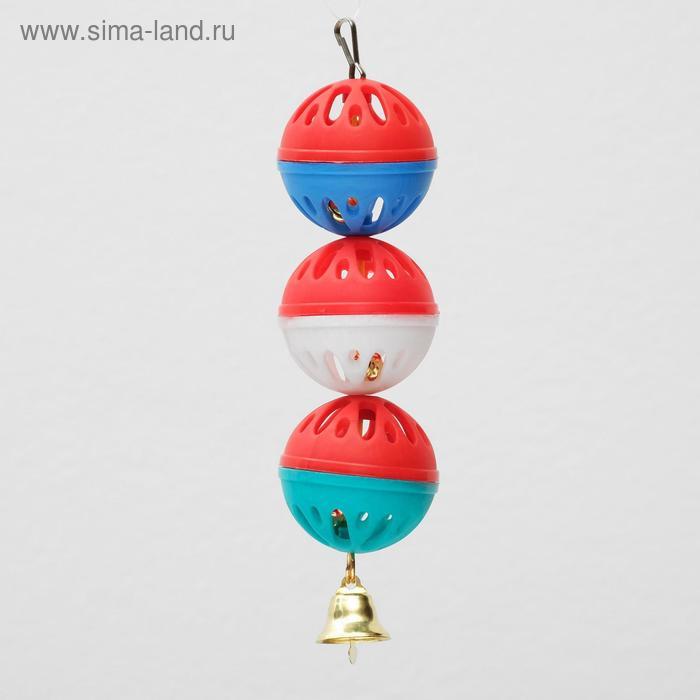 """Игрушка для попугая """"Забава"""" с 3 шариками"""