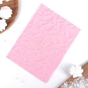 """Коврик рельефный 25х19 см """"Текстура"""", цвет розовый"""