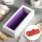 Форма для муссовых десертов и выпечки «Буше», 29,5×12,5 см, с ковриком-трафаретом «Лав», цвет бело-сиреневый - фото 308044965