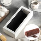 """Форма для муссовых десертов и выпечки 29,5×12,5 см """"Буше"""" с ковриком-трафаретом """"Кофейные зерна"""", цвет чёрно-белый"""
