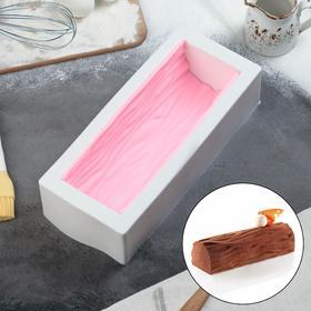 Форма для муссовых десертов и выпечки «Буше» с ковриком-трафаретом «Дерево», 29,5×12,5 см, цвет чёрно-белый