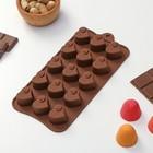 """Форма для льда и шоколада """"Сердцеедка"""", 15 ячеек, цвета МИКС"""