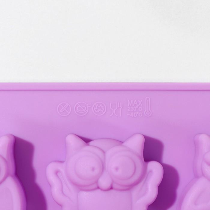 Форма для выпечки «Сова», 15 ячеек, 29×17 см, цвет МИКС - фото 308045606