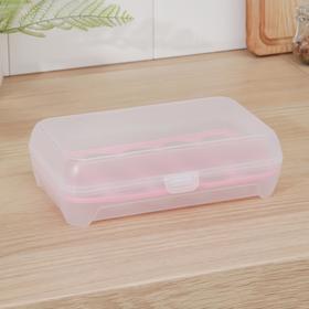 Контейнер для хранения яиц, 15 ячеек, 24×14,5×7 см, цвет МИКС