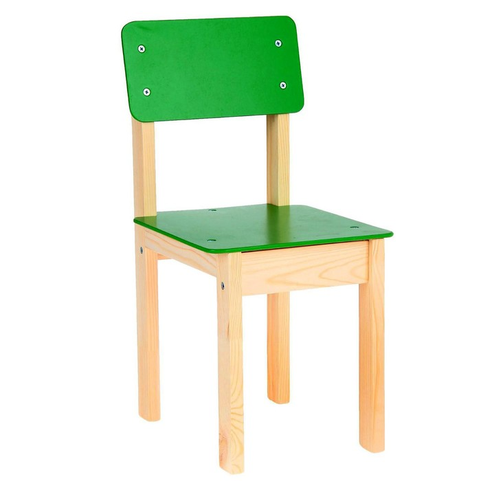 Стул детский №3 (Н=300), цвет зелёный