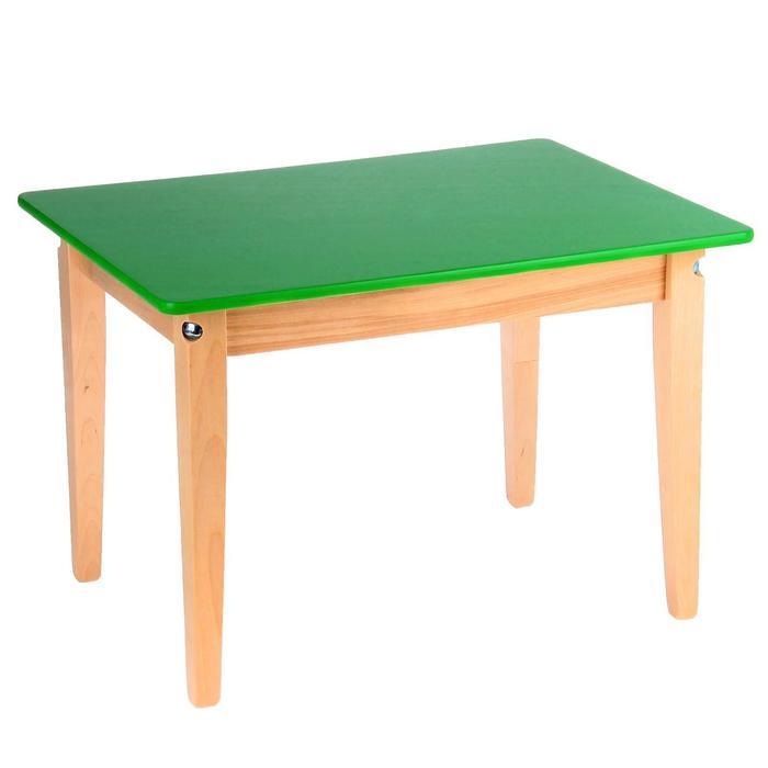Стол детский №0 (Н=400) (600х450), цвет зелёный - фото 1698281