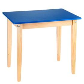 Стол детский №3 (Н=520) (600х450), синий