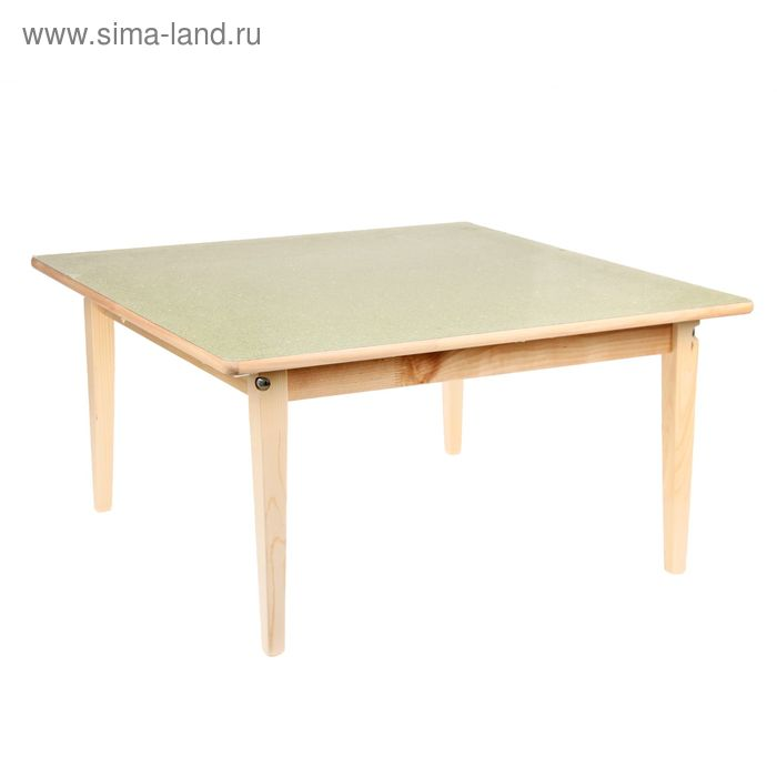 Стол детский №1 (Н=400) (695х695), зеленый