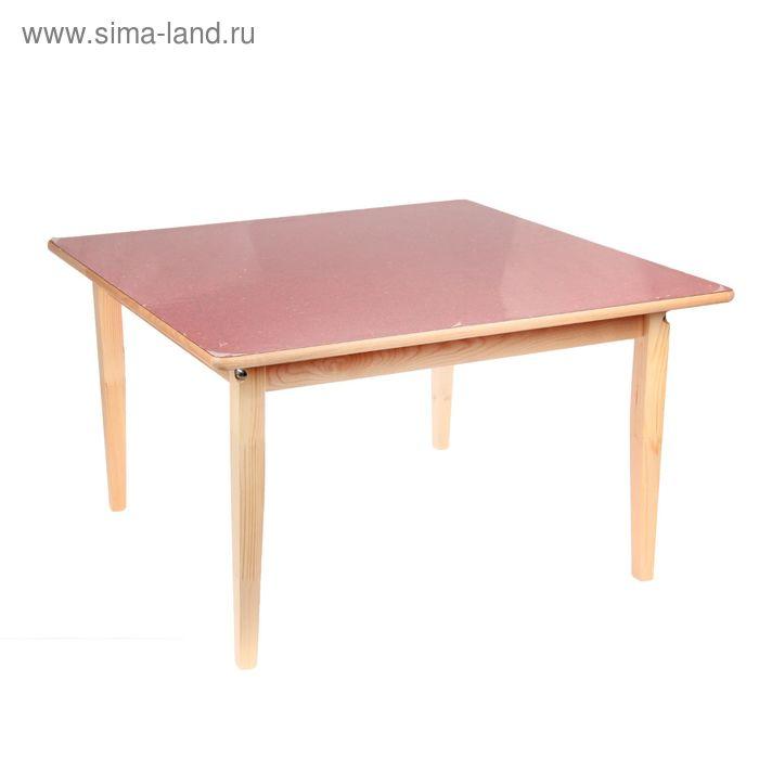Стол детский №2 (Н=465) (795х795), малиновый