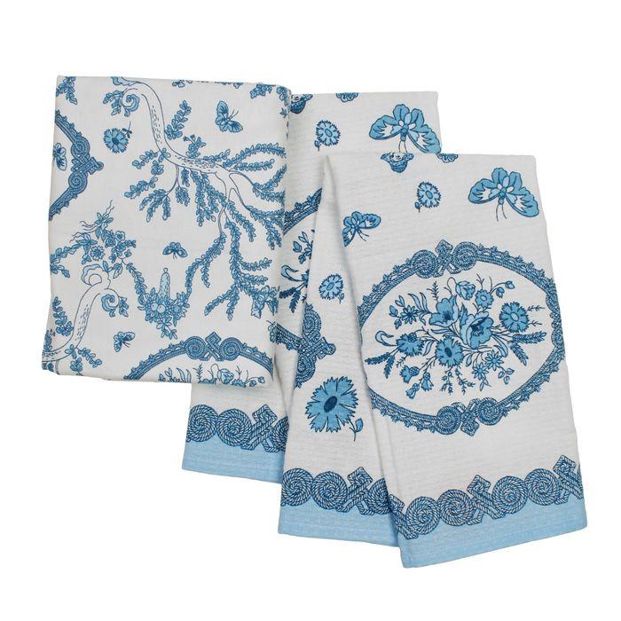 Подарочный набор Жуи скатерть 125х150 см, полотенце 44х59 см 2 шт, хлопок 100%, 120г/м2