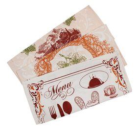 Подарочный набор вафельных полотенец Bonita Бордо 44х59см 3шт, 120г/м, 100%