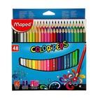 Карандаши трехгранные 48 цветов Color Pep's, ударопрочный грифель