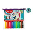 Набор маркеров для доски 12 цветов 2.0 мм Maped Marker Pep's, футляр на молнии