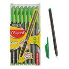 Ручка шариковая Green Dark, узел 0.6 мм, зелёные низкотекучие чёрнила, трёхгранный корпус, одноразовая