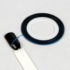 Лента клеевая для декора ногтей, 0,1 см, цвет синий