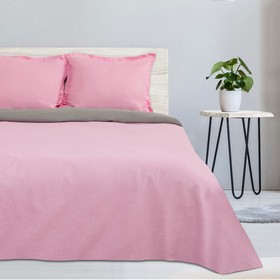 """Постельное бельё """"Этель"""" 2 сп. Розовый рассвет, размер 175х215 см, 200х220 см, наволочка трансформер 70х70 (50х70 см) - 2 шт., поплин 125 г/м2"""