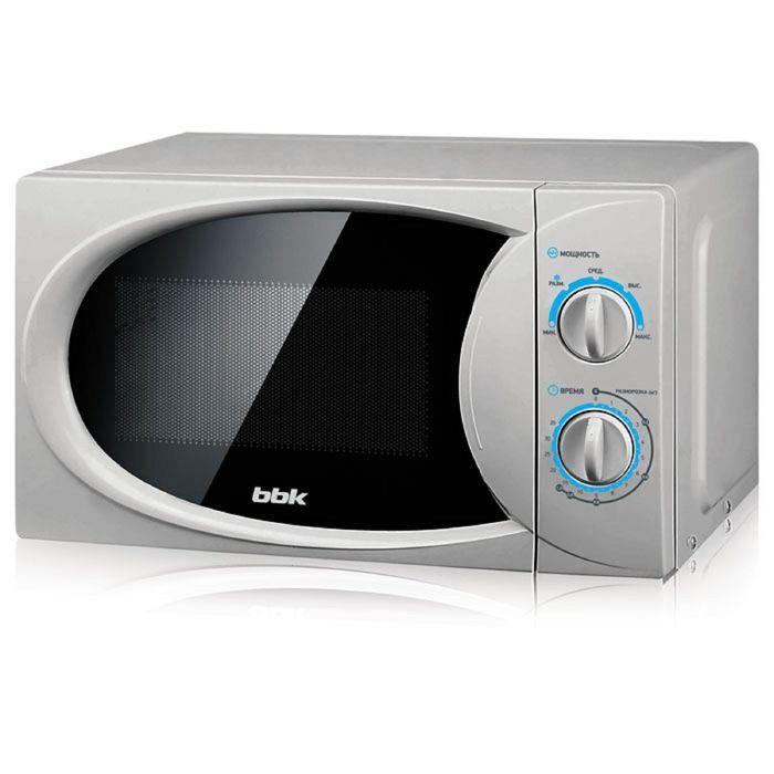 Микроволновая печь BBK 20MWS-714M/S, 700 Вт, 20 л, серебристая