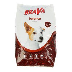 "Сухой корм BRAVA ""БАЛАНС"" для собак, 2,5 кг."