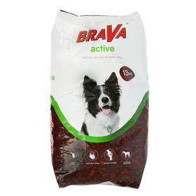 """Сухой корм BRAVA """"АКТИВ"""" для собак, 13 кг."""