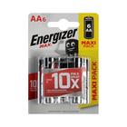 Батарейка алкалиновая Energizer Max, АА, LR6-6BL, блистер, 6 шт.
