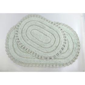 Набор ковриков для ванной YANA, 60x100 см, 50x70 см, цвет ментол