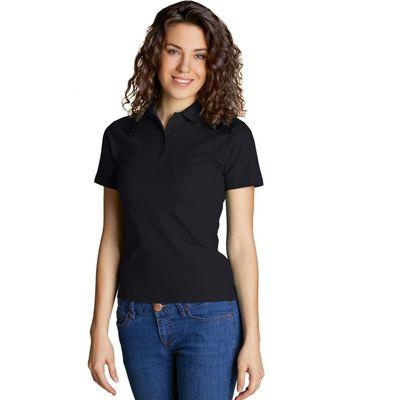 Рубашка-поло женская StanWomen,  размер 44, цвет чёрный 185 г/м 04WL