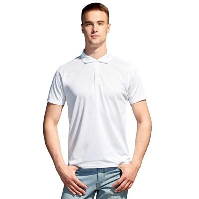 Рубашка-поло мужская StanPoli, размер 50, цвет белый 180 г/м 04E