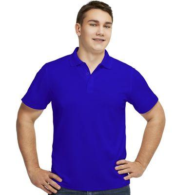 Рубашка-поло мужская StanPoli, размер 46, цвет синий 180 г/м 04E