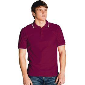 Рубашка мужская, размер 50, цвет винный