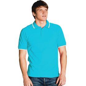 Рубашка мужская, размер 50, цвет бирюзовый