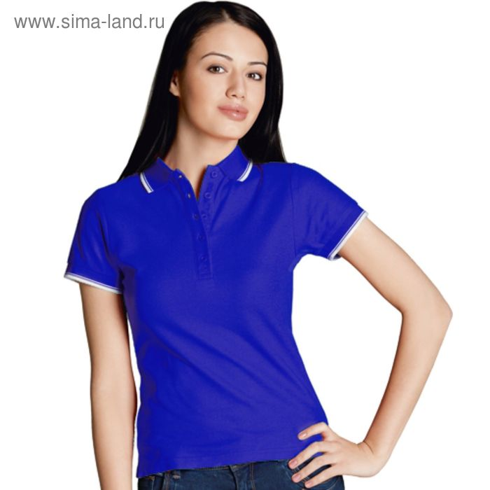 Рубашка-поло женская StanBeauty, размер 46, цвет синий 185 г/м 04BK